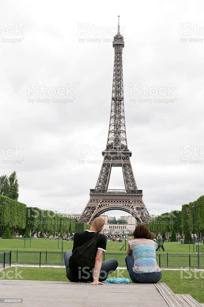 Parisian couple royalty-free stock photo