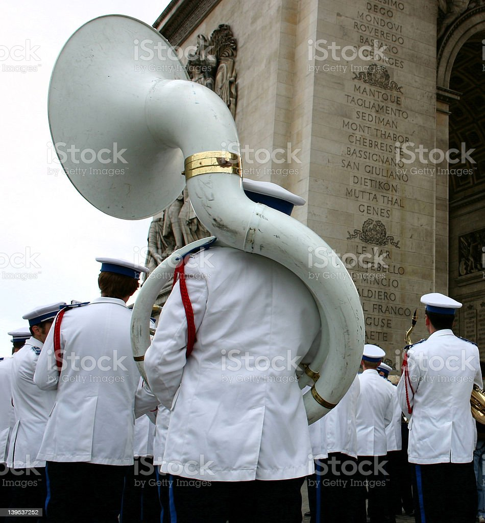 Parisian Marching Band stock photo