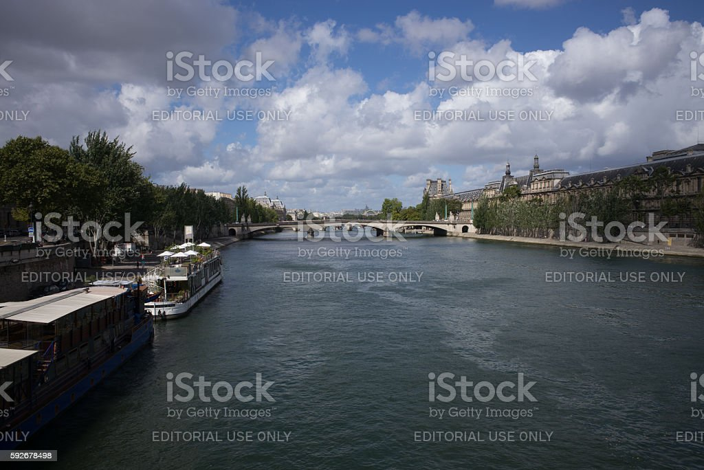 Parisian panorama stock photo