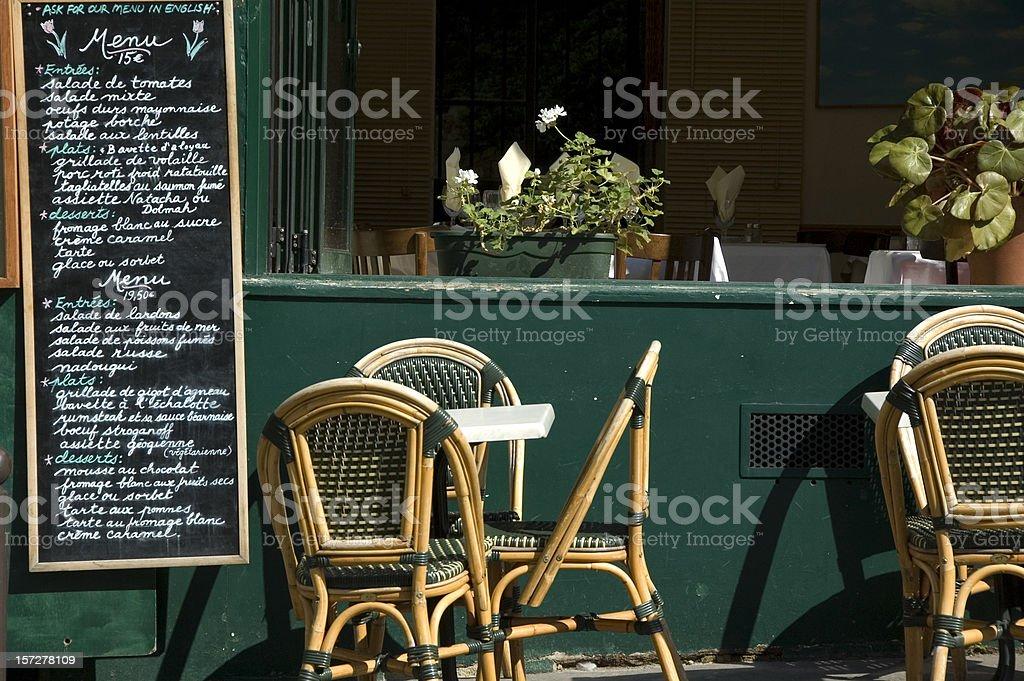 Parisian restaurant royalty-free stock photo