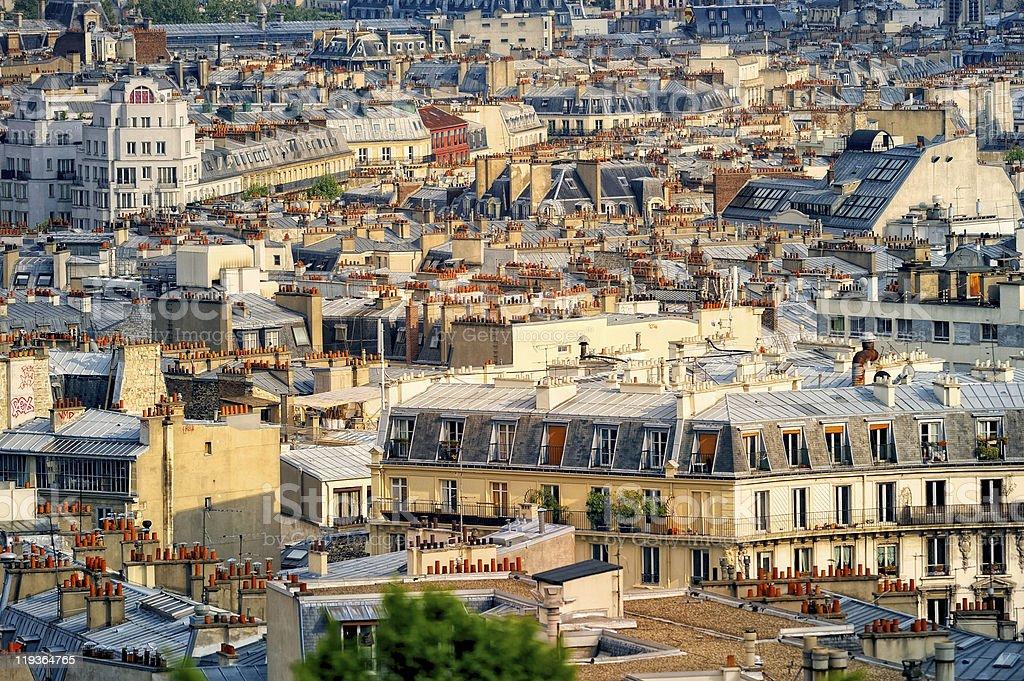 Parisian roofs stock photo