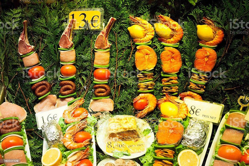 Parisian Shop Window Food Display royalty-free stock photo