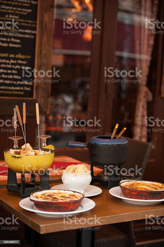 Parisian street cafe stock photo