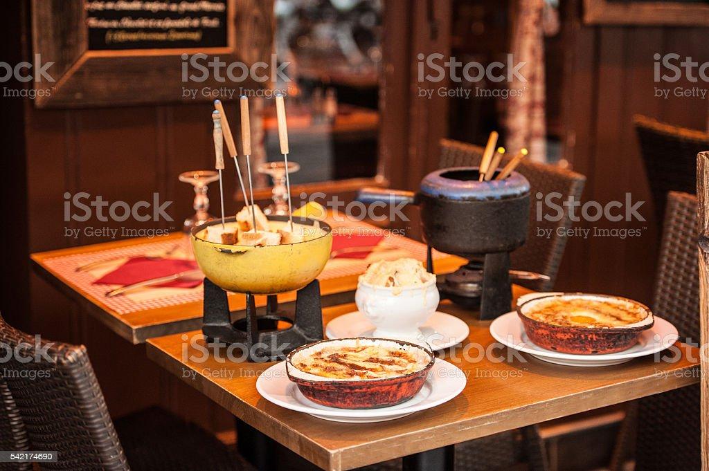 Parisian street cafe stock photo