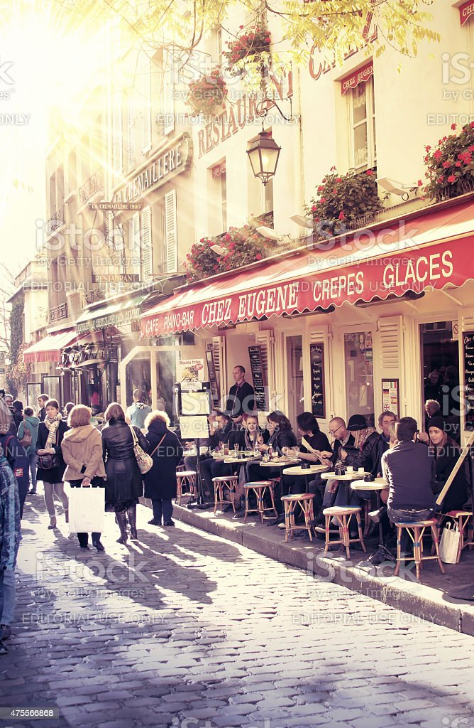 Parisian street scene stock photo