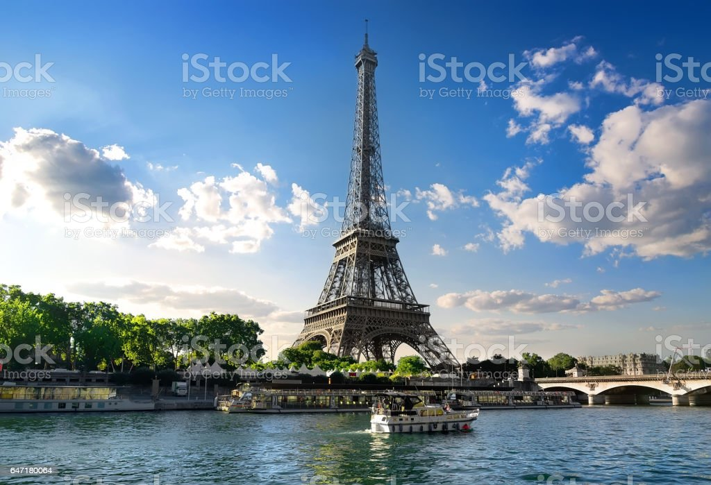 Parisian summer landscape stock photo