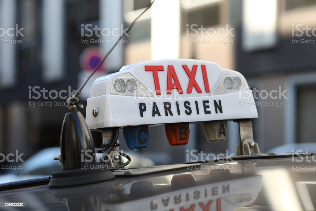 Parisien Taxi stock photo