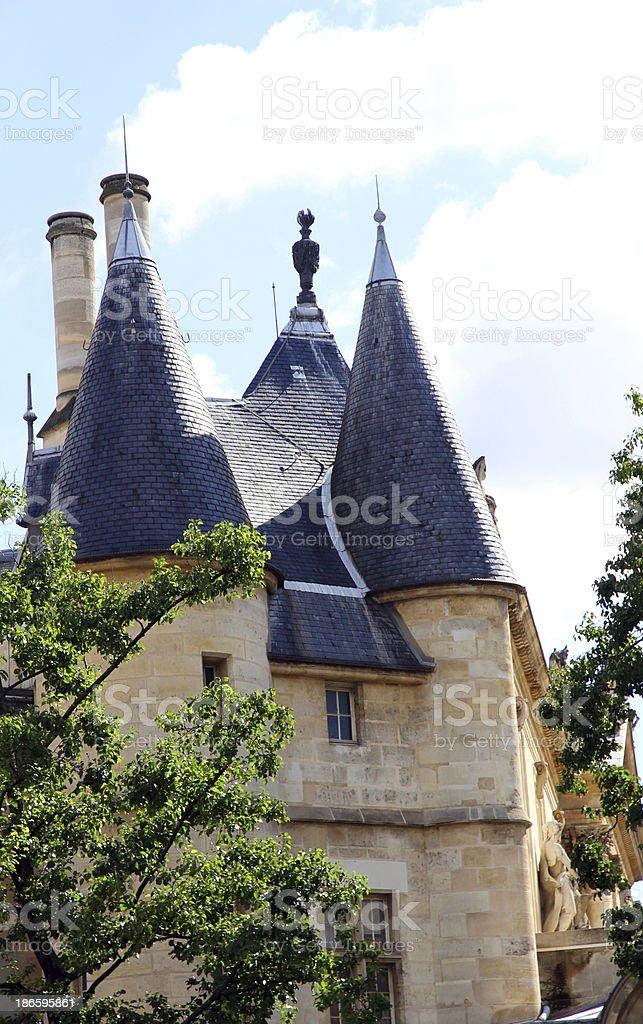 Parisian Turrets royalty-free stock photo