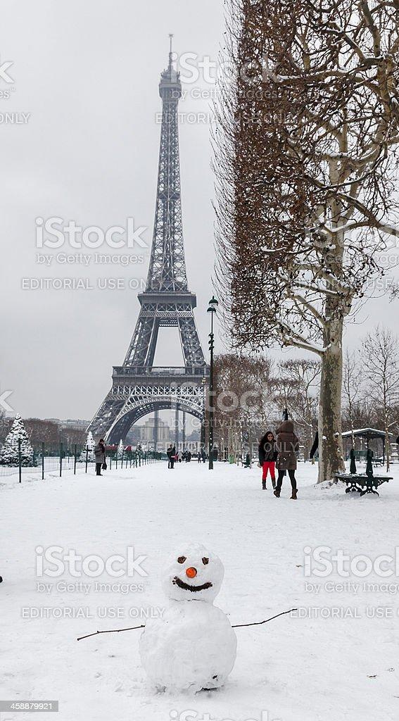 Parisian Winter royalty-free stock photo