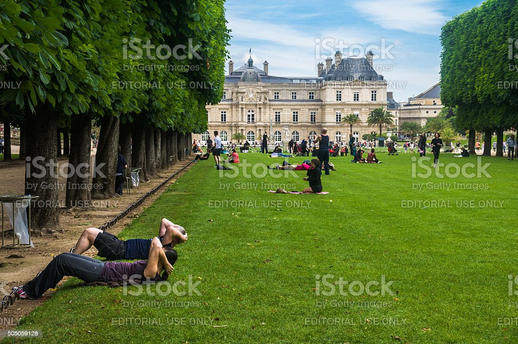 Parisians at Play stock photo