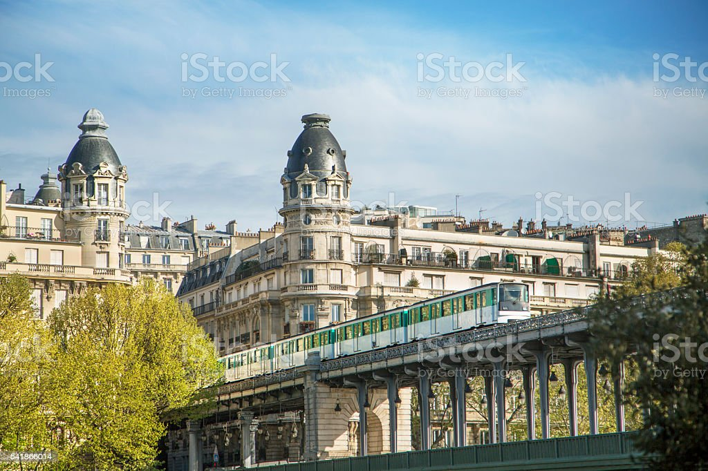 Parisien buildings stock photo