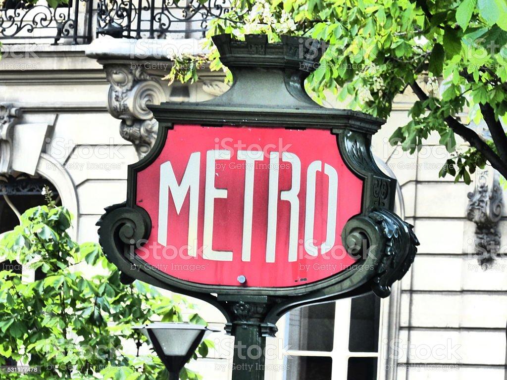 Paris-Metro transport, extérieur stock photo