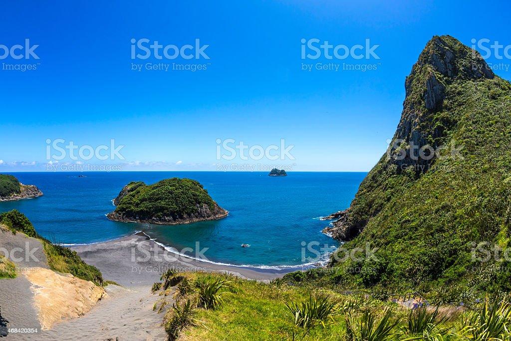 Paritutu Beach stock photo