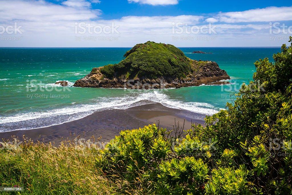 Paritutu Coastline stock photo