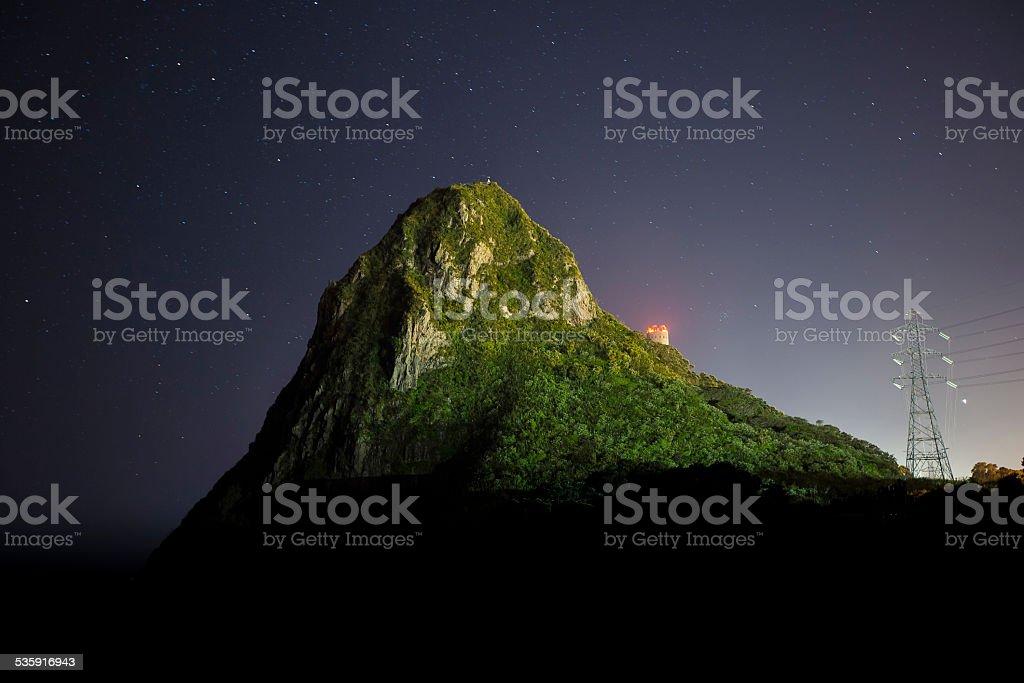 Paritutu Rock stock photo