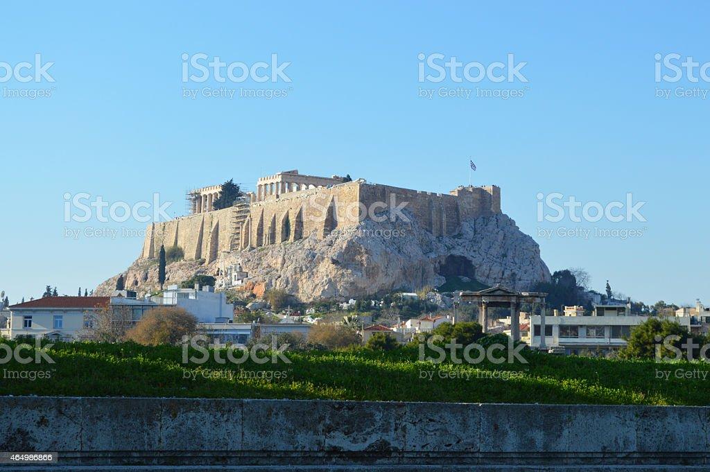 park y de la ciudad de Atenas fondo foto de stock libre de derechos