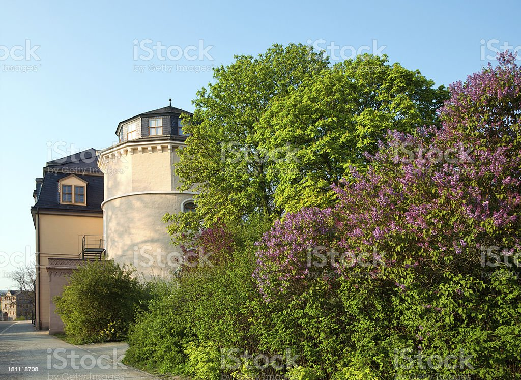 Park and Library in Weimar, Germany stock photo