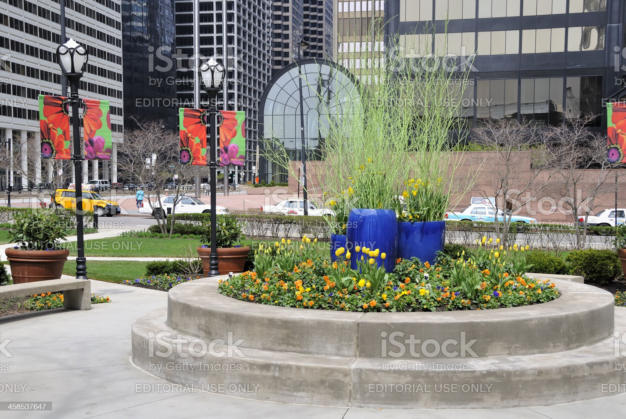 Park at 311 South Wacker Drive, Chicago royalty-free stock photo