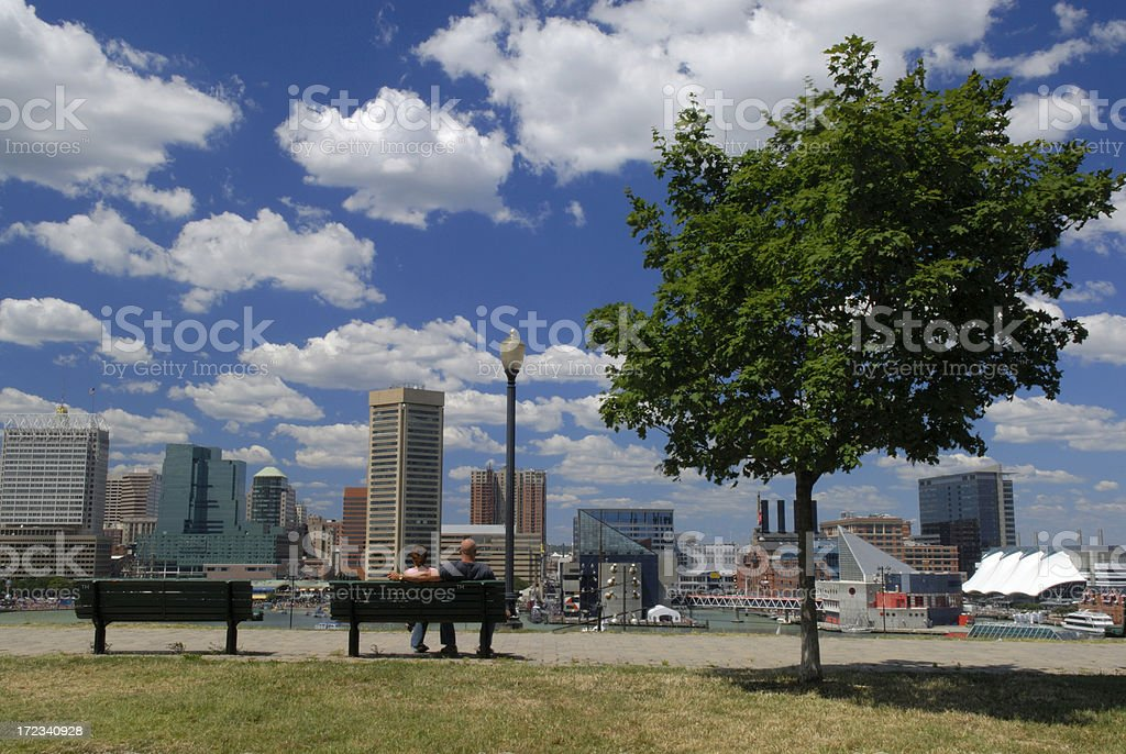 Park at Inner Harbor royalty-free stock photo