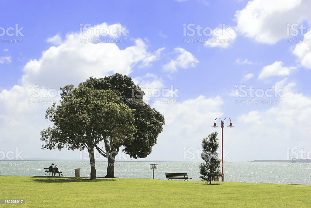 Park at Mission Bay, Auckland, New Zealand royalty-free stock photo