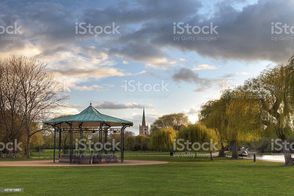 Park at Stratford upon Avon stock photo
