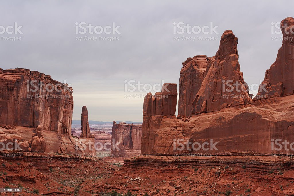 Park Avenue - Arches NP royalty-free stock photo