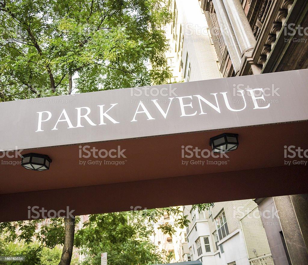 Park Avenue Awning royalty-free stock photo