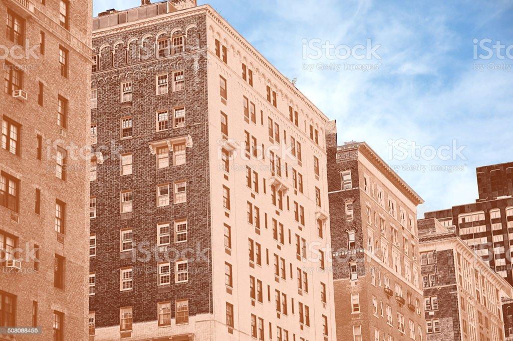 Park Avenue Buildings (with a copper gradient) stock photo