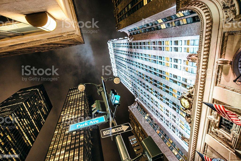 Park Avenue in New York City stock photo