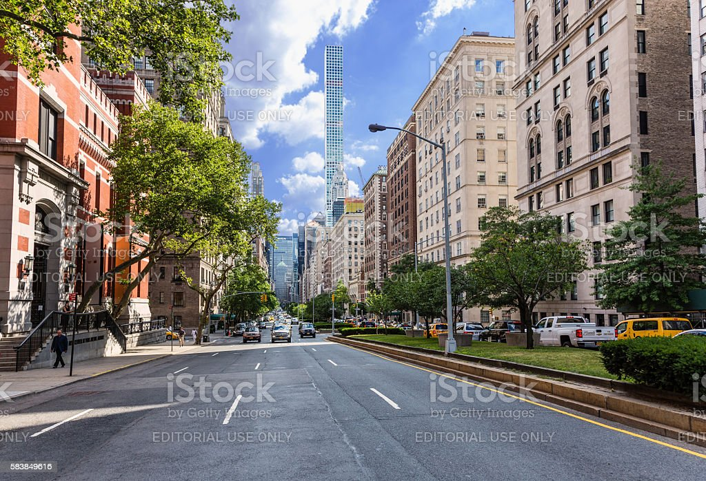 Park Avenue, Manhattan Upper East Side, New York. stock photo