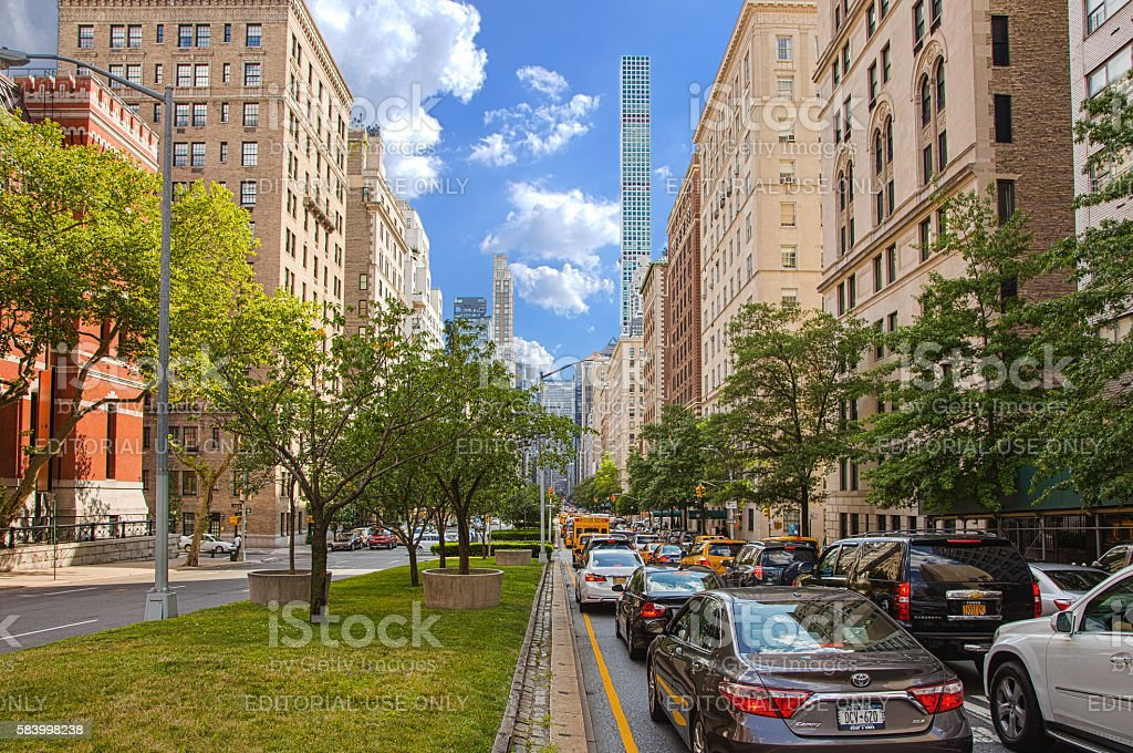 Park Avenue, Manhattan Upper East Side, New York. stock photo