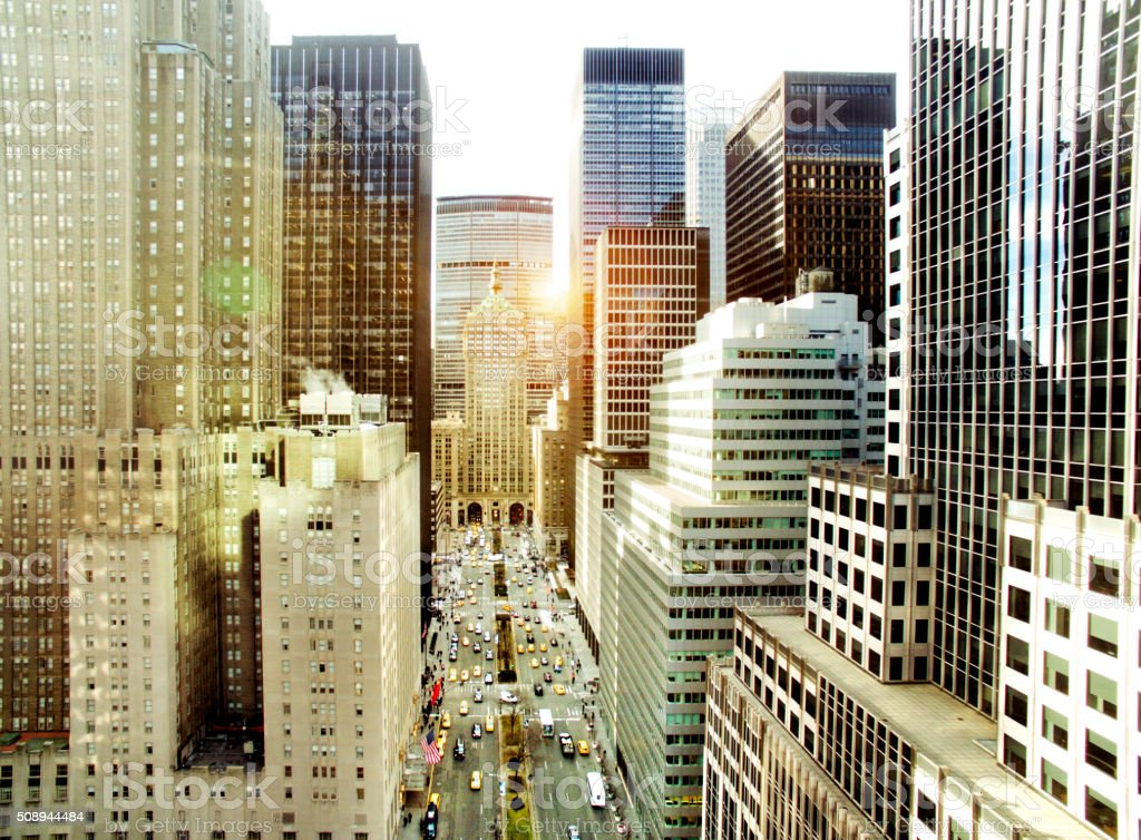 Park Avenue, New York City stock photo
