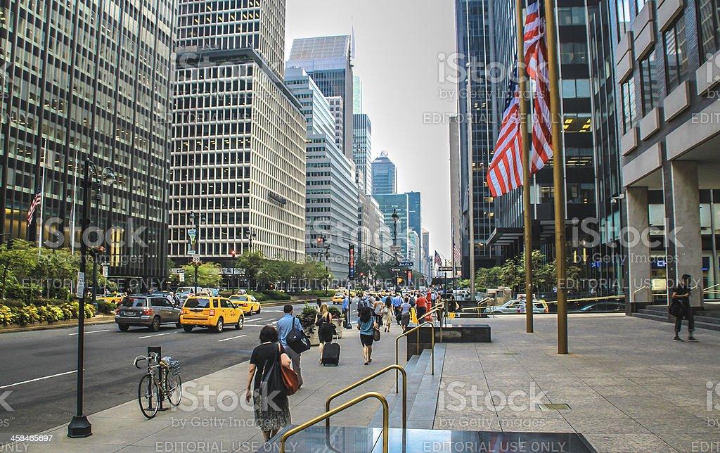 Park Avenue, New York royalty-free stock photo