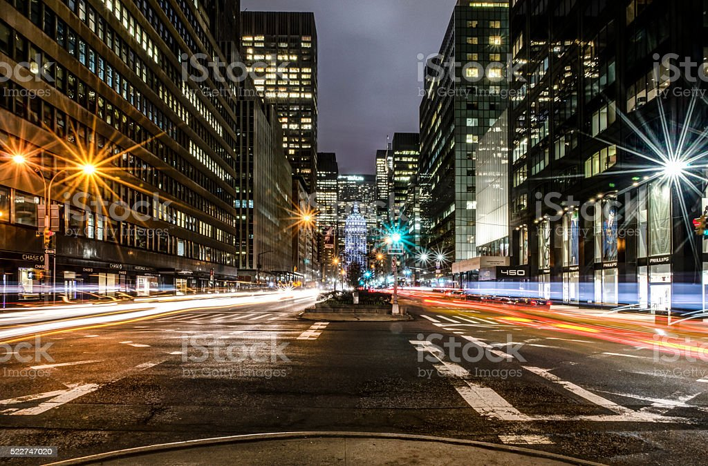 Park Avenue, New York stock photo