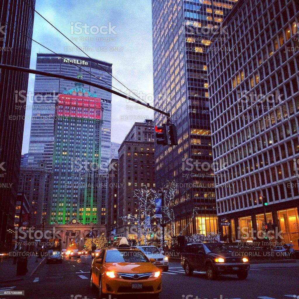 Park Avenue, New York, USA stock photo