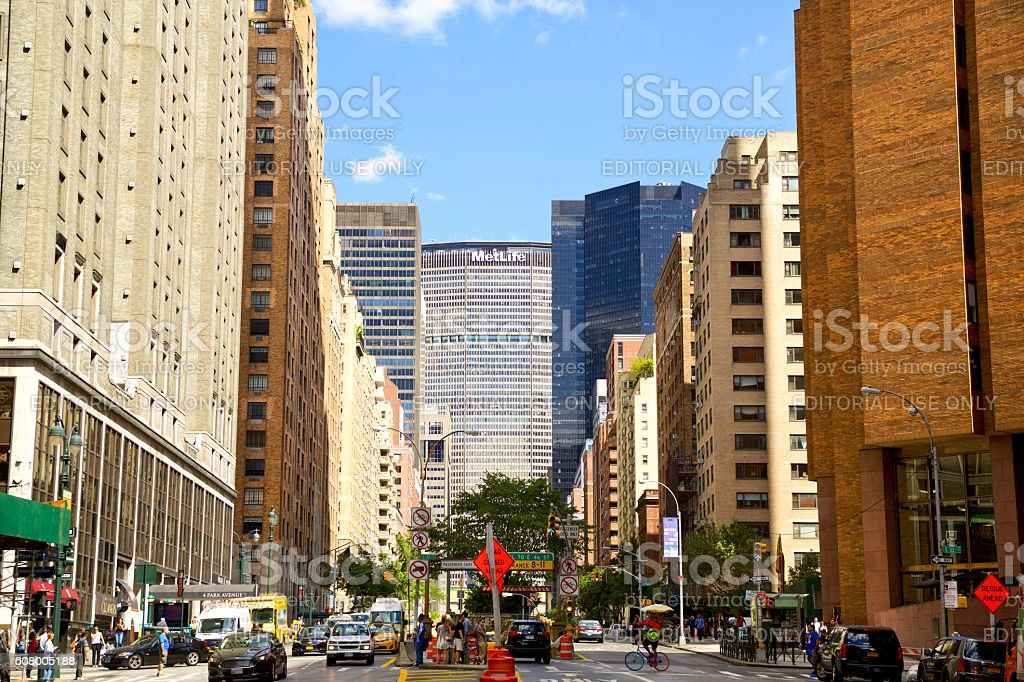 Park Avenue stock photo