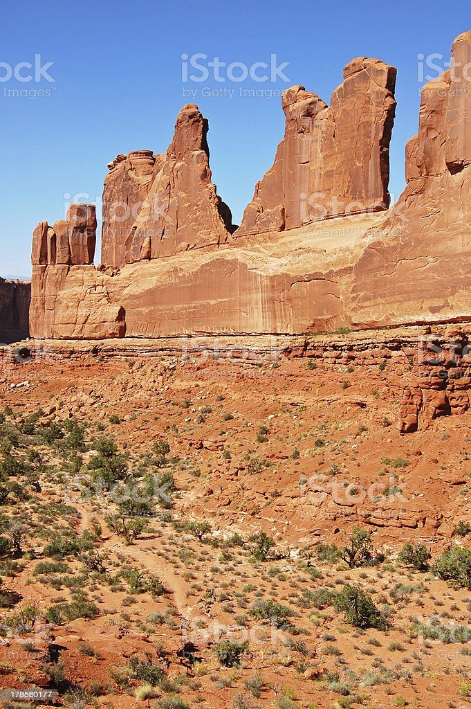 Park Avenue rock formation royalty-free stock photo