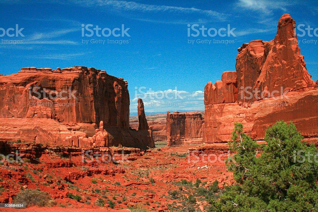 Park Avenue Section Arches National Park Moab Utah stock photo