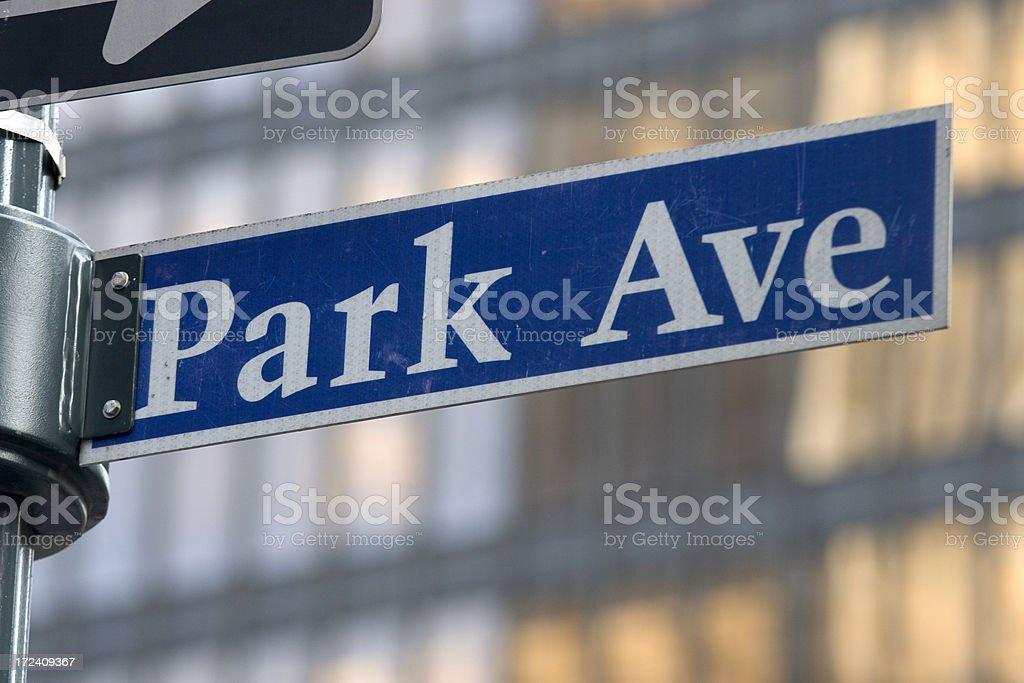 Park Avenue Sign, NYC stock photo