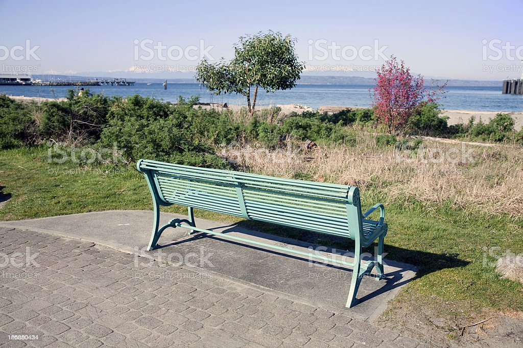Park Banch stock photo