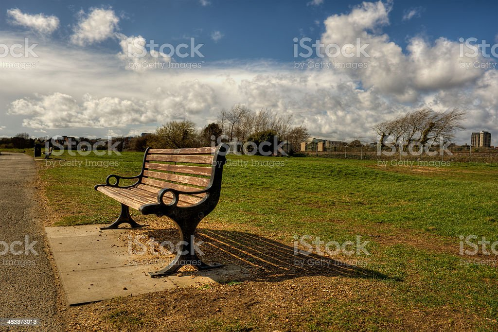 Park Bench HDR stock photo