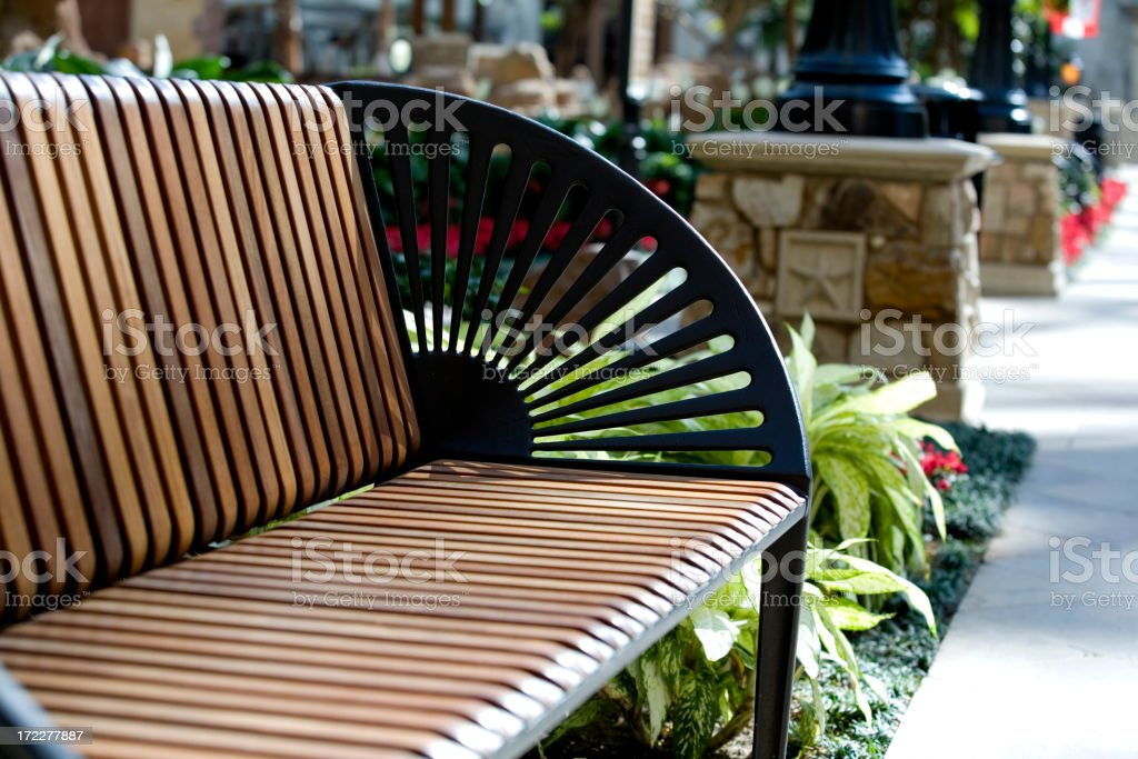 Park Bench royalty-free stock photo