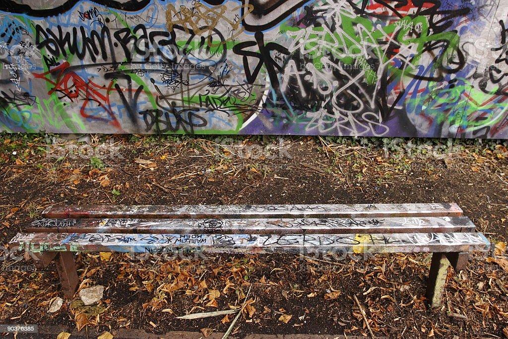 Park bench royalty-free stock photo