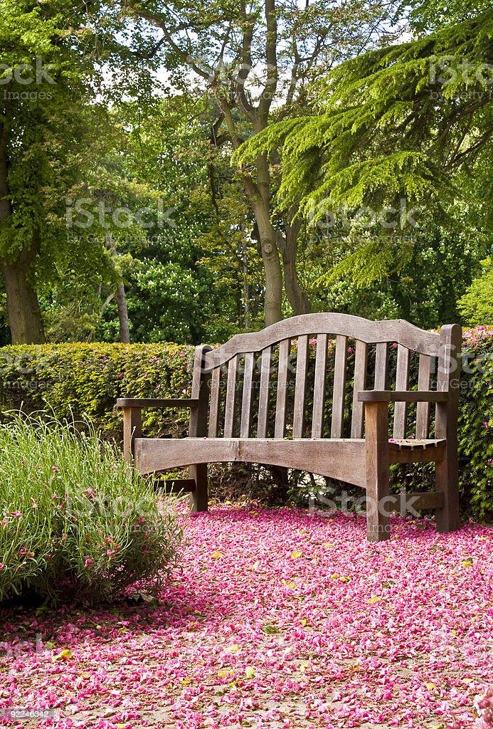 Ławka parkowa zbiór zdjęć royalty-free