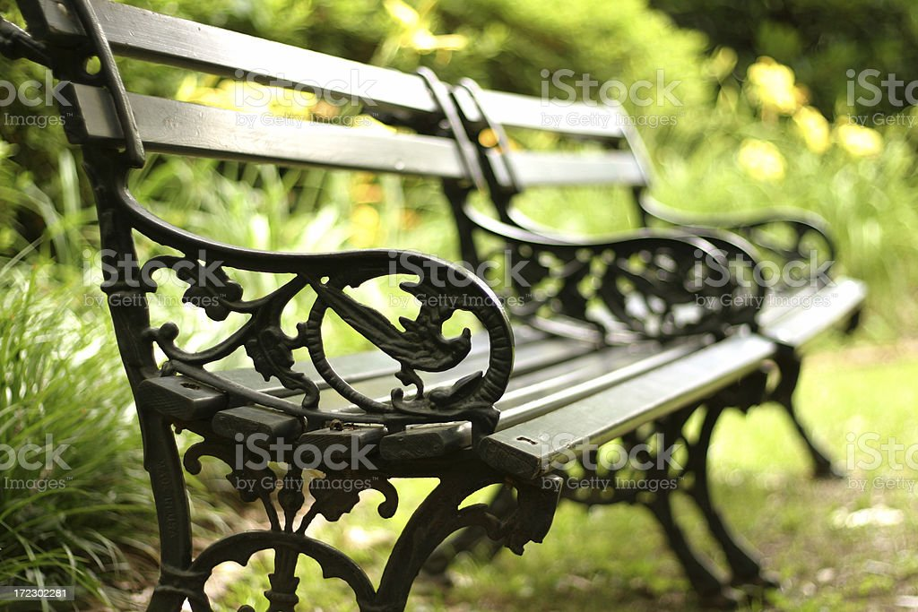 Park Benches royalty-free stock photo