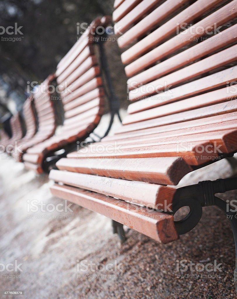 Park Benches stock photo