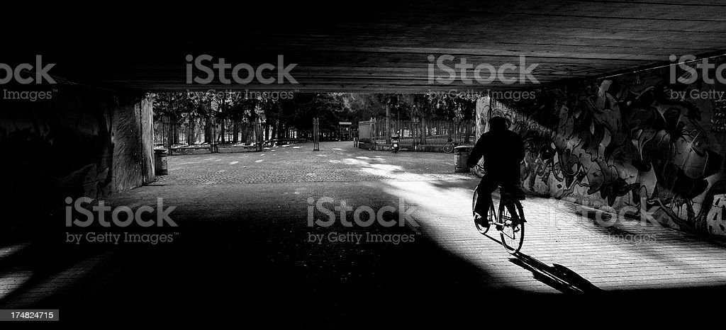 Park. Black and white royalty-free stock photo
