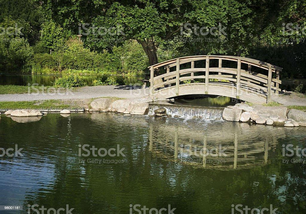 Park bridge royalty-free stock photo