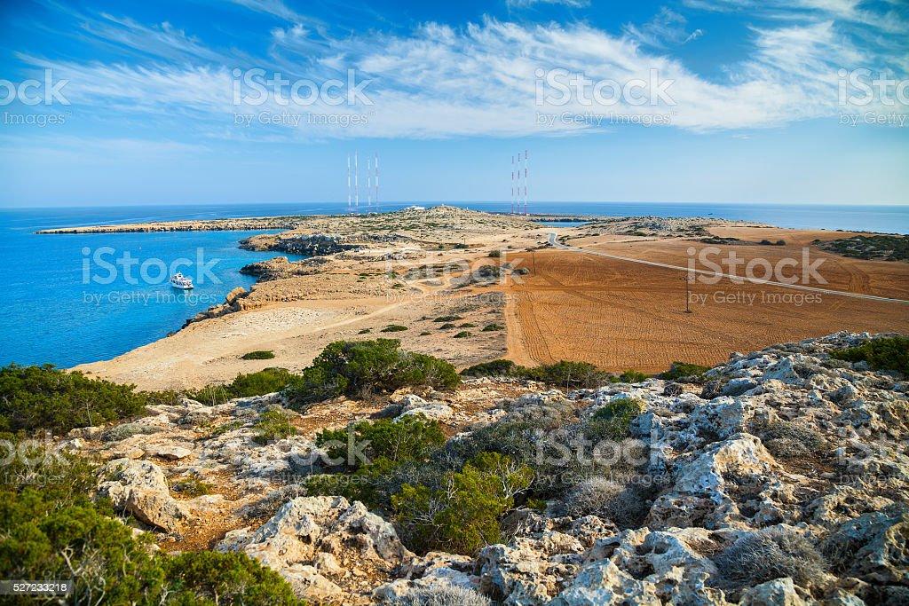 Park Cape Greco landscape stock photo
