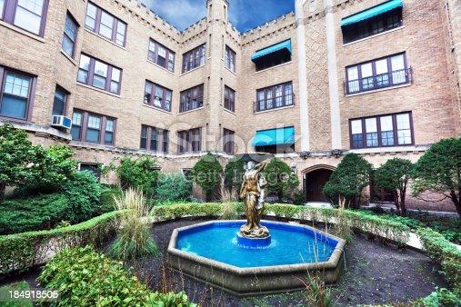 Park Castle Old Apartment Building West Ridge Chicago stock photo ...